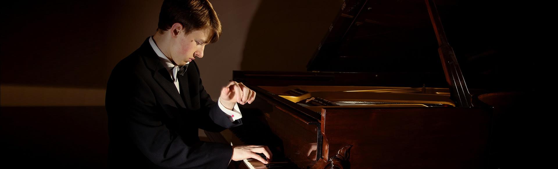 Julian Trevelyan performing